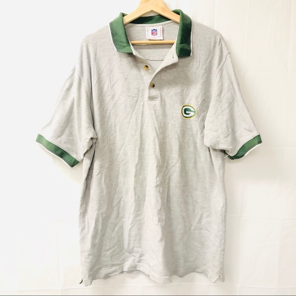 NFL Other - NFL large gray Green Bay polo shirt